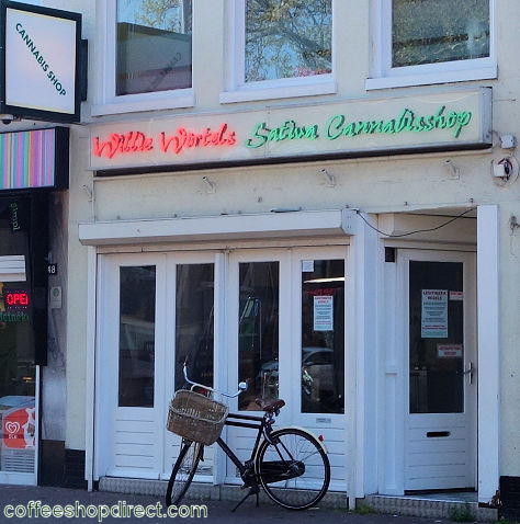 coffee shop Willie Wortel's Sativa, Haarlem, Noord Holland for cannabis with address, telephone number, opening times, Facebook, Instagram, reviews, menu, map, inside view, picture