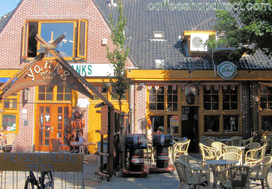 coffee shop Yanks, Zandvoort, Noord Holland for cannabis with address, telephone number, opening times, email address, Facebook, Instagram, reviews, menu, map, inside view, picture